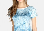 Buy womens blue jersey casual top at london rag