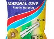 Mg09 25x8 pvc plug (50-50) - by screw tools