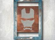 Iron man metal wall art