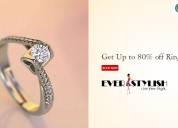 Get up to 80% off rings
