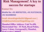 Risk management! a key to success for startups