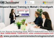 Stipend based training in mohali