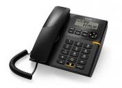 Alcatel t-58 black corded landline phone on dvcomm
