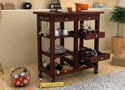 Explore solid wood kitchen trolley design