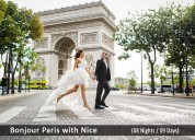 Paris nice honeymoon tour packages from india