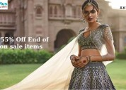 Flat 55% off end of season sale items
