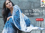Up to 50% off crepe silk sarees