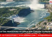 Procedure to apply for canada express entry