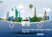 Get up to 65% off flight tickets with email sign u