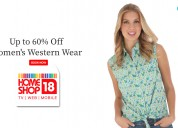 Up to 60% off women's western wear