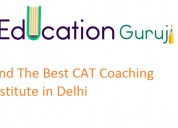 Learn from faculties of one of top cat coaching in