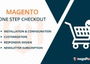 Magento one step checkout services
