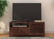 Tv unit design : get amazing solid wood tv unit in