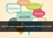 Grab accurate language transcription services in d