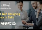 Best web designing course in delhi