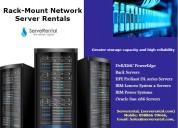 Rack-mount network server rentals