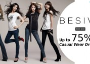 Up to 75% off casual wear dresses