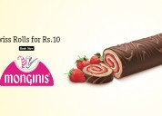 Swiss rolls for rs.10