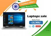 Multibrand laptops (hp, lenevo, dell) sale starts