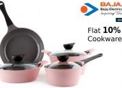 Flat 10% off cookware