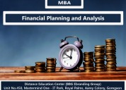 Mba in financial planning and analysis