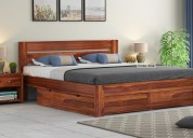 Get queen size beds for sale at wooden street