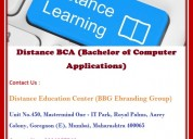 Distance bca (bachelor of computer applications)