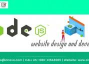 Node js website design and development