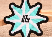 Eight pointed star cheap custom patches