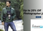 Up to 20% off photographer jackets