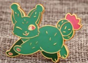 Cactus rabbit enamel pins