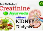 How to reduce creatinine by ayurveda without kidne