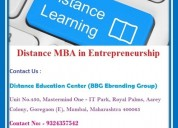 Distance mba in entrepreneurship
