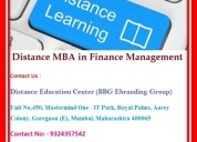 Distance mba in finance management