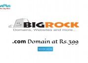 Bigrock coupons, deals & offers: .com domain at rs