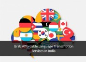 Grab affordable language transcription services in