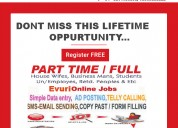 The part time home based data entry typing jobs