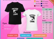 Customized couple t - shirt