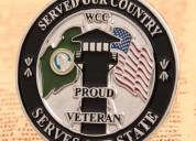 Proud veteran military lapel pins