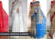 Dhakai jamdani handloom sarees