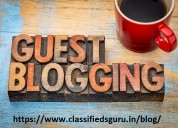 Free guest posting website india – classifieds gur