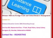 Distance mba in foreign trade and global business