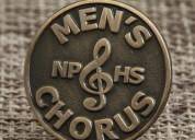 Custom chorus lapel pins