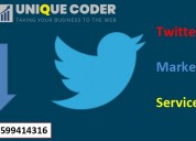 Twitter marketing services at unique-coder