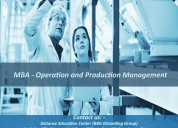 Mba - operation and production management