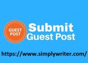 Free guest posting on every niche at simply write