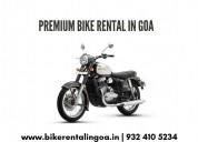 Taking a bike on rent - goa bikes inc.
