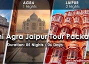 Golden triangle tour package with btpl