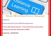 Distance mba in human resource management