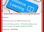 Distance mba in information technology management